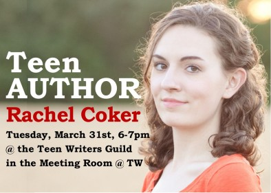 Teen Scene image block - Teen Writers Guild March 2015 - Rachel Coker