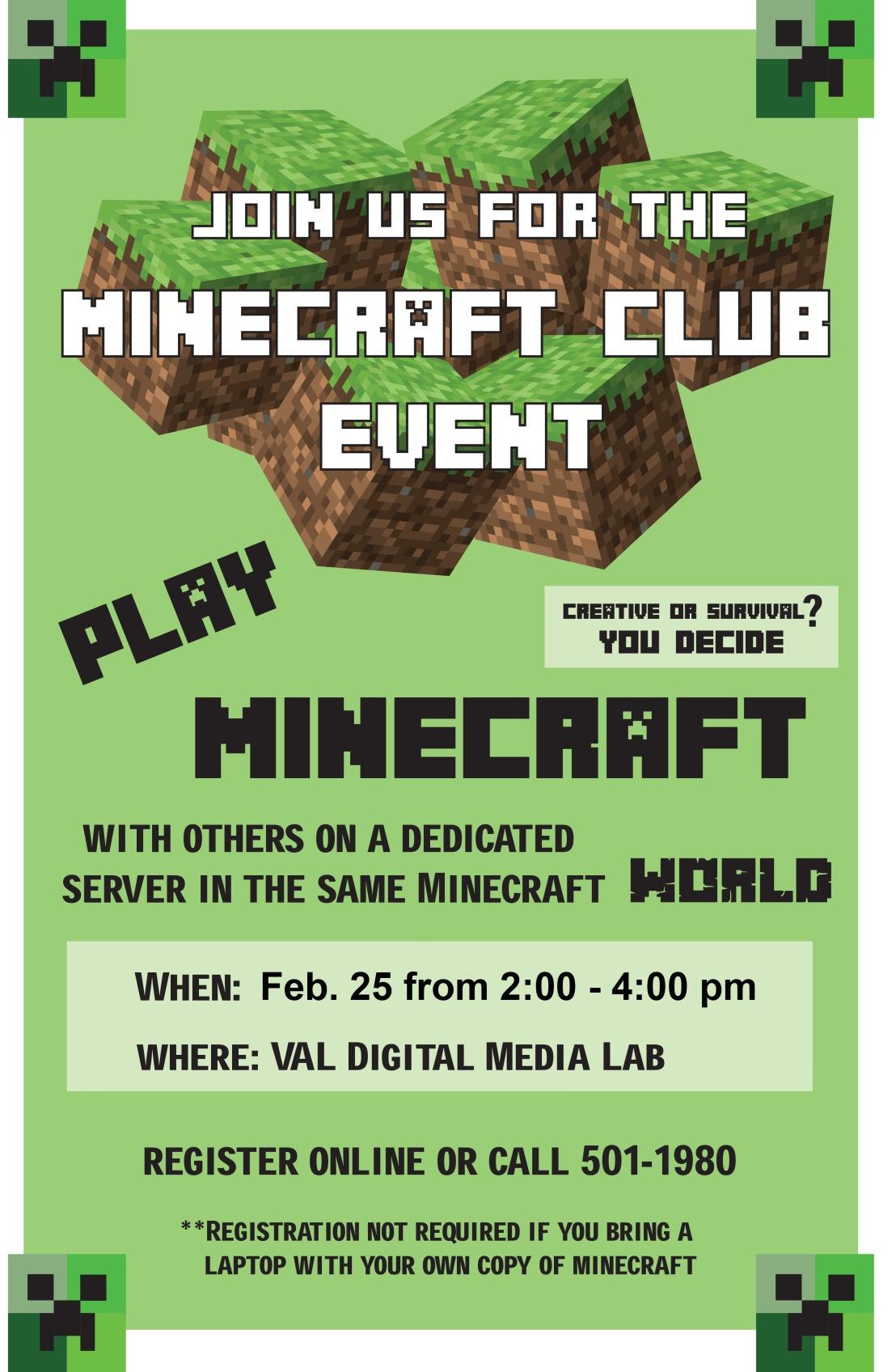 Minecraft Flyer