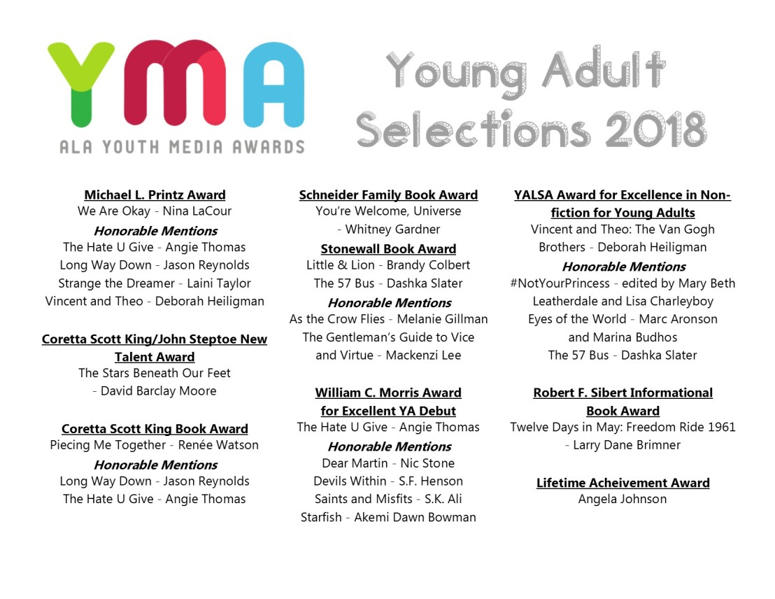 ALA Youth Media Awards Young Adult Selections 2018