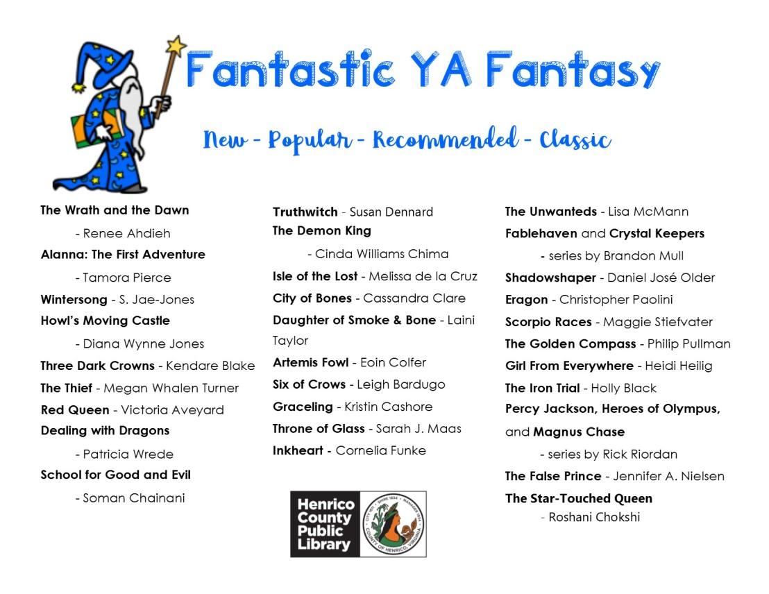 Fantastic YA Fantasy